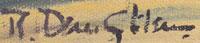 Robert Daughters (1929-2013) signature