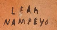 Artist Signature - Leah Garcia Nampeyo, Hopi-Tewa Potter