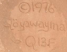 Artist Signature - Al Qöyawayma, Hopi Pueblo Potter