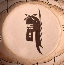 Artist Hallmark of a Katsina - Burel Naha, Hopi-Tewa Potter