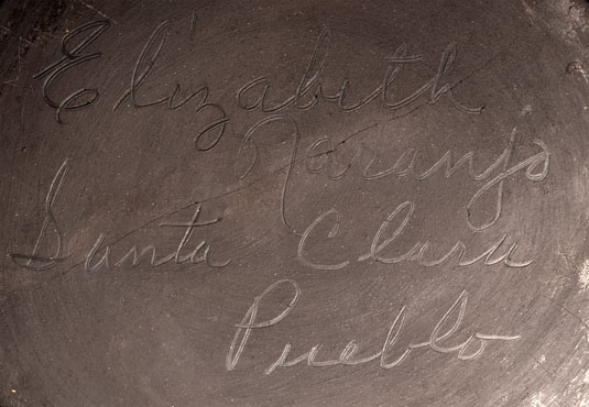 Artist Signature - Elizabeth Naranjo, Santa Clara Pueblo Potter