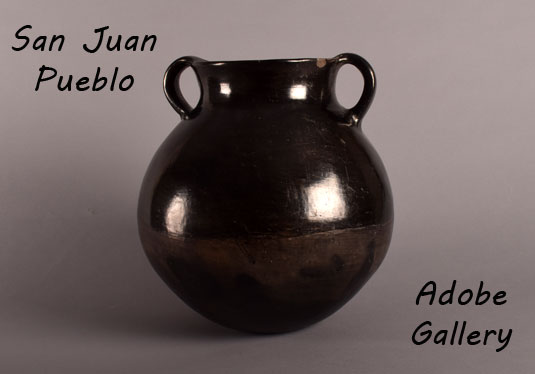 Alternate view of this blackware pottery vessel.