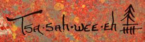 "Santa Clara Pueblo artist signature Helen Hardin (1943-1984) Tsa-Sah-Wee-Eh or ""Little Standing Spruce"""