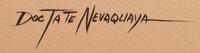 Artist Signature of Doc Tate Nevaquaya, Comanche Artist