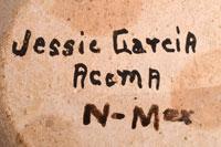 Artist Signature - Jessie C. Garcia, Acoma Pueblo Potter