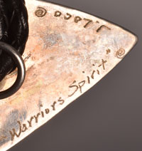 Artist Signature and title - Jan Loco, Apache Jeweler