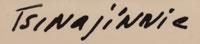 Andrew Van Tsihnahjinnie (1916 - 2000) signature
