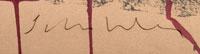 Artist Signature of Fritz Scholder, Luiseño Indian Painter.
