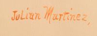 Artist Signature of Julián Martinez Pocano - Coming of the Spirits