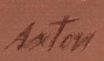 Signature of John Axton, Western Artist