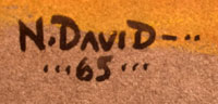 Signature of Neil Randall David, Sr., Hopi-Tewa Artist