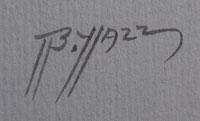 Artist Signature of Beatien Yazz (1928-2012) Little No Shirt - Jimmy Toddy