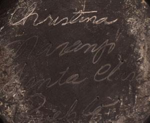Artist Signature of Christina Naranjo, Santa Clara Pueblo Potter