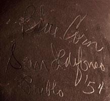 Artist Signature of Crucita Gonzales Calabaza - Blue Corn, San Ildefonso Pueblo Potter