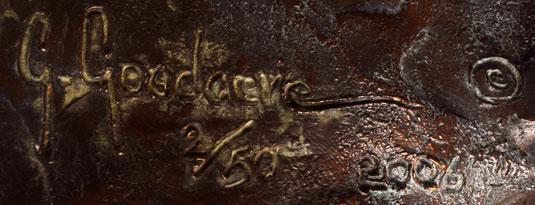 Artist Signature of Glenna Goodacre, Western Sculpture Artist