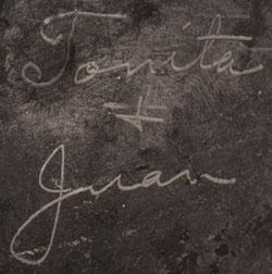 Artist Signatures of Tonita Martinez Roybal (1892-1945) and Juan Cruz Roybal (1896-1990)