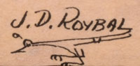 "Artist Signature of José Disiderio ""J. D."" Roybal (1922-1978) Oquwa - Rain God"