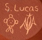 Artist Signature and Hallmark image of Steve Lucas, Koyemsi, Hopi-Tewa Potter