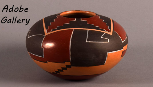 Alternate view of this pottery seed jar.