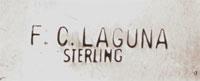 Artist signature of Frank Carrillo, Laguna Pueblo Artisan