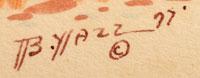 Artist Signature of Beatien Yazz Little No Shirt - Jimmy Toddy