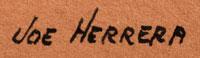 Artist signature of Joe Hilario Herrera, Cochiti Pueblo Painter