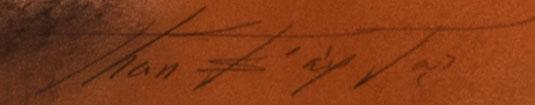 Artist Signature of Tommy Edward Montoya, Ohkay Owingeh Pueblo Painter
