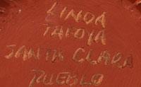 Artist Signature of Linda Tafoya-Sanchez, Santa Clara Pueblo Potter