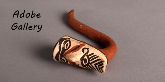 Alternate view of the pottery pipe.