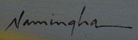 Artist Signature of Dan Namingha, Hopi Pueblo Artist