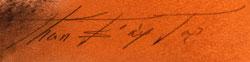 Artist Signature of Helen Hardin, Santa Clara Pueblo Artist