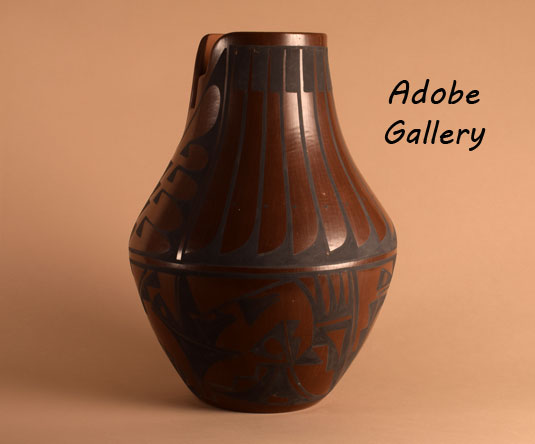 Alternate side view of this pottery jar.