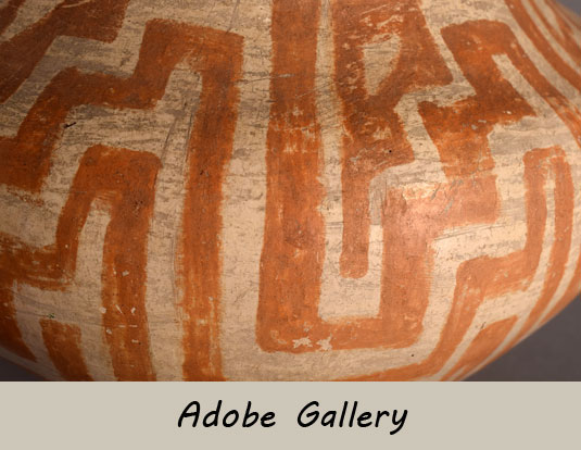 Alternate close up view of this Laguna pottery water jar.