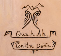 Artist Signature and Hallmark of Tonita Vigil Peña, Quah Ah, San Ildefonso Pueblo Painter