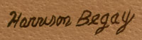 Artist Signature of Harrison Begay, Diné Artist of the Navajo Nation