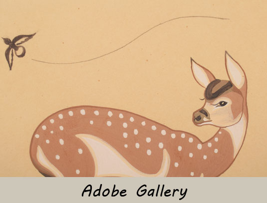 Alternate close up view of the deer and bird.