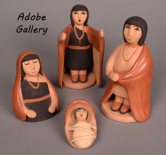 The holy family: Mary, Joseph and Jesús.