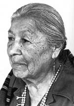 Photo of Christina Naranjo ca. 1973 courtesy of Rick Dillingham. (Fourteen Families In Pueblo Pottery).