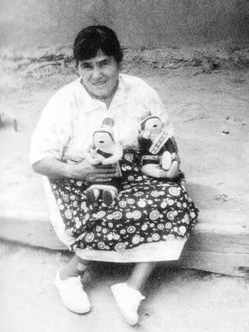 Picture of Helen Cordero - Photo Reference:   Southern Pueblo Pottery: 2,000 Artist Biographies by Gregory Schaaf.