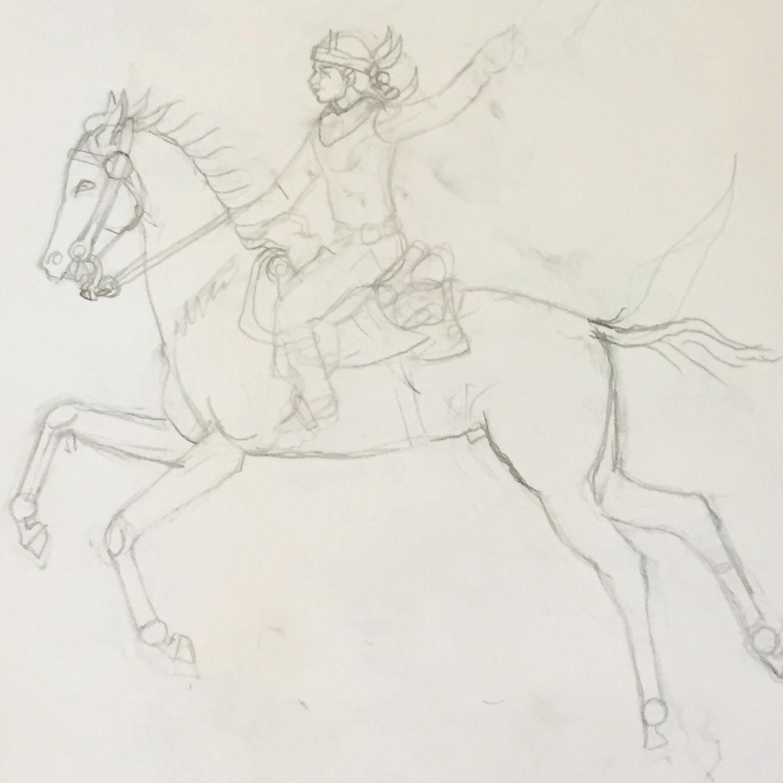 Sketch by Harrison Begay