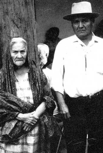Lela and Luther Gutierrez SAnta Clara Pueblo ca Aug 1963
