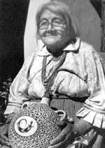 Picture of Lucy M Lewis of Acoma Pueblo - Artist Photo Reference: Fourteen Families In Pueblo Pottery by Rick Dillingham.