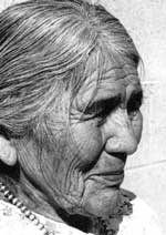 Picture of Nellie Douma Nampeyo of Hopi Pueblo - Photo courtesy of Rick Dillingham. (Fourteen Families In Pueblo Pottery).