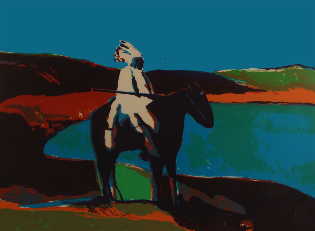 "Fritz Scholder's ""Indian at the Lake"""