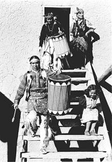 San Ildefonso Pueblo Dancers - Ansel Adams, photographer 1942