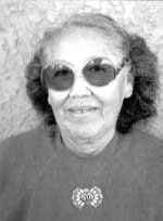 Artist image of Seferina Ortiz courtesy of Rick Dillingham (Fourteen Families In Pueblo Pottery)