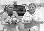Photo courtesy of Gregory Schaaf. Left to right Sofia Medina and Lois Medina. Reference: Southern Pueblo Pottery: 2,000 Artist Biographies by Gregory Schaaf.