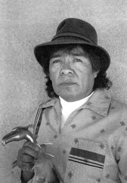Tse-Pé Gonzales (1940- 2000) - Photo reference: Fourteen Families In Pueblo Pottery by Rick Dillingham. courtesy of Rick Dillingham.