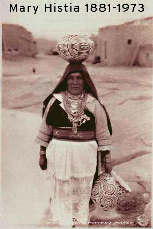 Mary Histia (1881 -1973) Acoma Pueblo.  Photo courtesy of the Jeffrey Trent Collection.