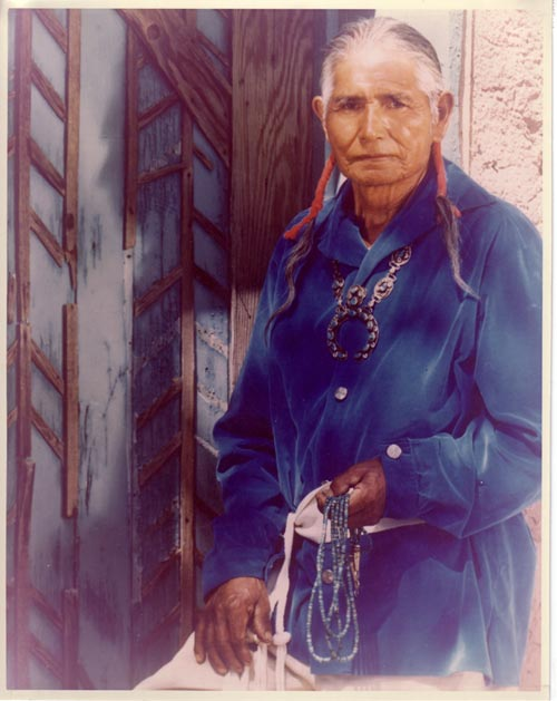 Portrait of José Encarnacion Peña (1902-1979) Soqween - So Kwa A Weh (Frost on the Mountain)
